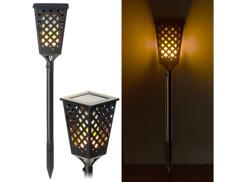 Torche LED solaire effet flamme 96 LED / 30 lm