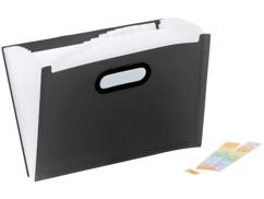 porte documents organiseur en plastique avec onglets pour documents a4