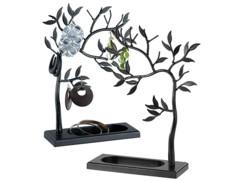 2 arbres à bijoux en métal