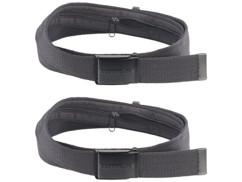 2 ceintures portefeuille unisexe 130 x 4 cm