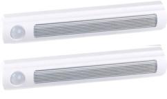 2 lampes de placard sans fil à LED avec détecteur - 25 lm - Blanc