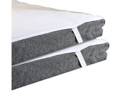 2 protège-matelas imperméables lavables - 90 x 200 cm