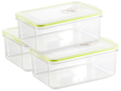 3 boîtes rectangulaires pour mise sous vide - 1,3 L