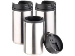 3 gobelets isothermes à double paroi - 28 cl