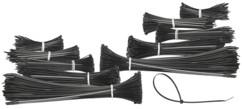 1000 colliers de serrage en 5tailles, coloris noir