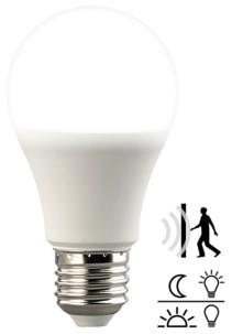 Ampoule LED avec capteurs de mouvement et d'obscurité 10W- Blanc du Jour