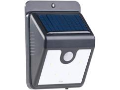 applique veilleuse murale d'exterieur avec panneau solaire 1w avec detecteur de mouvement