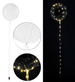 ballon de baudruche avec guirlande led integree pour decoration fetes mariages jardin