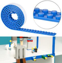bandes adhesives fixation support lego blocs briques briquettes megabloks couleur bleu vert rouge noir