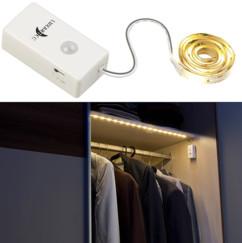 Bande LED à piles 160 lm / 60 cm blanc lumière du jour - Avec détecteur PIR