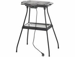 barbecue électrique de table ou sur pied avec resistance et thermostat rosenstein