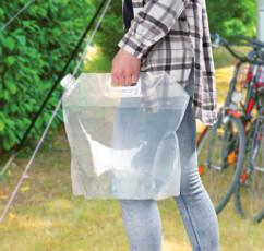 bidon souple transparent enroulable pour eau camping jardin potager