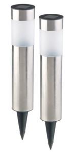 Bornes lumineuses solaires à LED avec capteur de luminosité - Rondes - x2