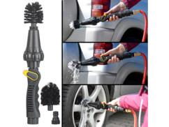 Brosse rotative pour tuyau d'arrosage, débit réglable