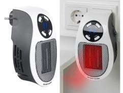 Chauffage soufflant pour prise murale avec thermostat, minuterie et écran LED