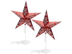 2 étoiles lumineuses à LED - modèle rouge