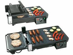 Grille-viande & plancha électrique de table 2 en 1, 2000 W