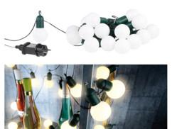 Guirlande guinguette 4,75 m 20 ampoules LED 1W - Blanc chaud
