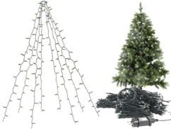 Guirlande lumineuse 8 fils / 320 LED effet cascade pour sapin de Noël