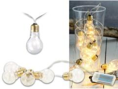 Guirlande lumineuse à LED design ampoule classique