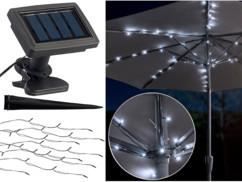 Guirlande solaire à LED pour parasol à 8 brins / 72 LED
