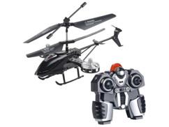 helicoptere telecommandé gh245 simulus avec 5 rotors et gyroscope