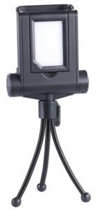 Lampe photo/vidéo 15 LED avec trépied pour smartphone et perche à selfie