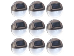 Lampes à LED solaires pour clôture & escaliers - x9