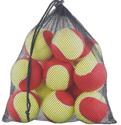 sachet de 12 balles de tennis molles lentes pour debutants et entrainement 77mm 65mm