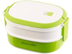 Lunch box 700 ml à 2 étages avec poignée de transport - Sans BPA