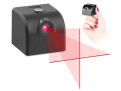 Mini laser USB à lignes croisées avec niveau à bulle
