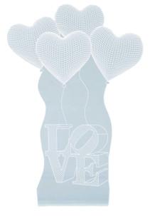 motif coeur love hologramme 3d pour socle lumineux lunartec nx9153 rose
