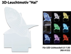 Motif 3D pour socle lumineux LS-7.3D - Requin