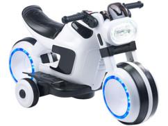 jouet moto look futuriste style tron disney avec lecteur mp3 et haut parleurs intégrés playtastic