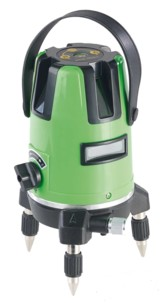 Niveau laser 3 positions avec auto nivellement de précision et lunettes rouges de protection et malette de transport fournies agt