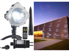 Projecteur effet chute de neige à LED blanches