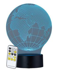 """Socle lumineux décoratif à LED """"LS-7.3D"""" - Motif Globe"""