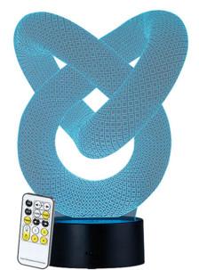 "Socle lumineux décoratif à LED ""LS-7.3D"" - Motif Infini"
