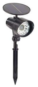 Spot solaire à LED avec détecteur de mouvement & témoin rouge clignotant