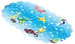 Tapis antidérapant pour baignoire, 69 x 38 cm, décor plage