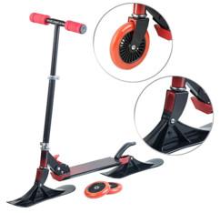 trottinette manuelle avec roues et patins pour glisse sur neige RS-100