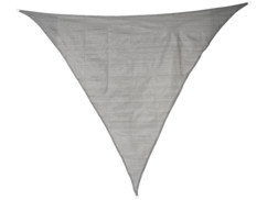 Voile d'ombrage triangulaire - 3 x 3 x 3 m - Gris