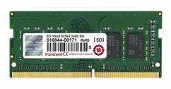 Barrette de mémoire Transcend SODIMM DDR4 avec 8 Go de capacité.
