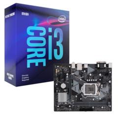 Kit Carte Mère ASUS PRIME H310M-K R2.0 + processeur Intel Core i3 9100F
