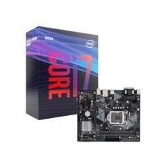 Kit avec une carte mère ASUS PRIME H310M-K R2.0 et un processeur Intel Core i7 9700.