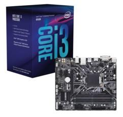 Kit Carte Mère Gigabyte Z370M DS3 et processeur Intel Core i3 8100