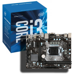 Kit Carte Mère MSI H110m + processeur Intel Core i3 7100