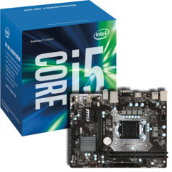 Kit Carte Mère MSI H110m + processeur Intel Core i5 7400