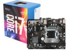 Kit Carte Mère MSI H110m + processeur Intel Core I7