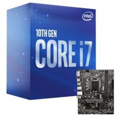 Kit avec une carte mère MSI H410M-A Pro et un processeur Intel i7-10700.